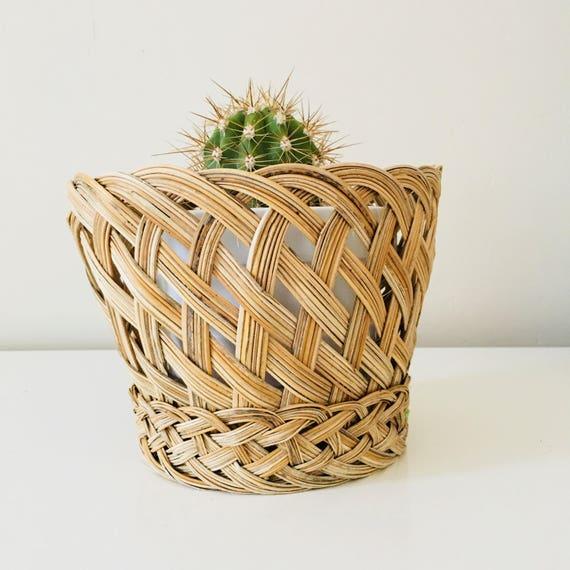 Vintage Woven Basket Braided Plant Baskets Plant Holder Storage Baskets Boho Decor
