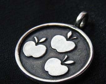 Silver Applejack pendant