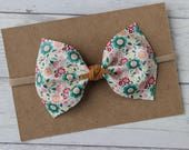 Boho Chic Floral Faux Leather {MILLIE} Bow - Spring + Summer 2017