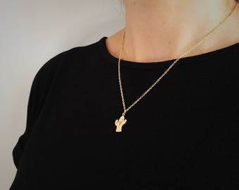 Gold or Silver - Cactus necklace - the perfect dainty necklace for every day wear!