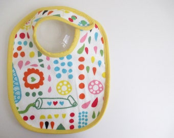 EcoBib--Adjustable Snap Closure--Modern Paint Tube and Fun Design--Ready to Ship
