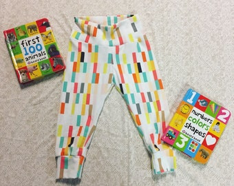 Rainbow Pixels Custom Leggings School