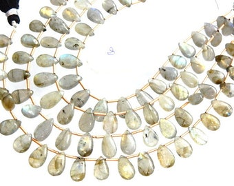 4 Strands Labradorite Beads  Multi Fire Smooth Briolette Pear Drops  AA Quality Size 7x10-7x15MM Approx 8''