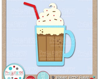 Root Beer Float Cutting Files & Clip Art - Instant Download