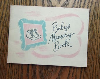 Baby's Memory Book - 1950's Libby's Baby Memory Book