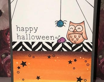 Various discounted handmade Halloween cards