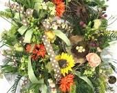 Sunflower Door Wreath, Do...