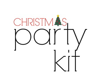 Christmas Party Kit, Holiday Party in a Box, Dessert Bar Party Supplies