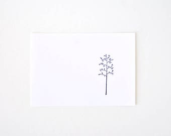 Minimalist Art Print - Tree Line Drawing - The Winter's Tree
