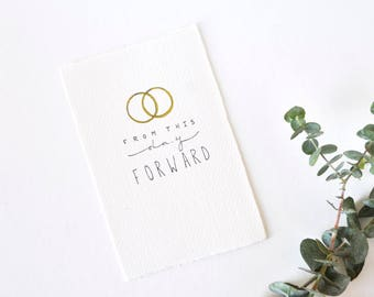 Simple Wedding Card - Wedding Rings - From this Day Forward