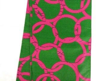 African Print Kente Fabric  (sold per yard)