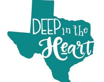 Texas Decal,  Deep in the Heart of Texas Decal,  State Decal, State Sticker, Texas Sticker, Vinyl Decal, Car Decal, Yeti Decal