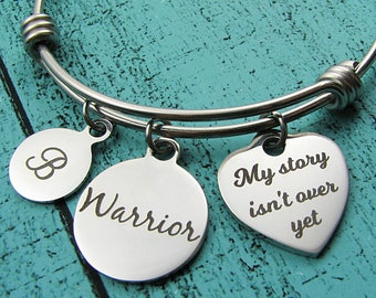 mental health awareness bracelet, depression anxiety warrior gift, inspirational recovery gift, survivor bracelet, my story isn't over yet