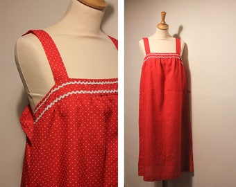 Vintage Red & White Polkadot Summer Dress