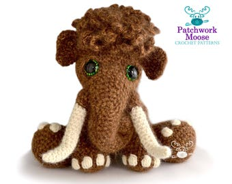 Woolly Mammoth Crochet Pattern PDF Instant Download - Mortimer