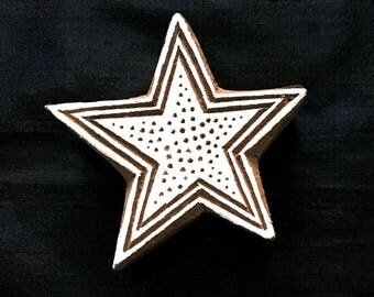 Star Pattern Indian block printing stamp/tjap/textile pottery stamp/ wooden block for printing/ paper and fabric printing stamp