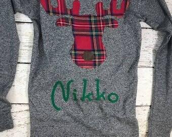Moose Pajamas, Family Christmas Pajamas, Custom Christmas Pajamas, Holiday Pajamas, Christmas pj for family, children's adult pajamas