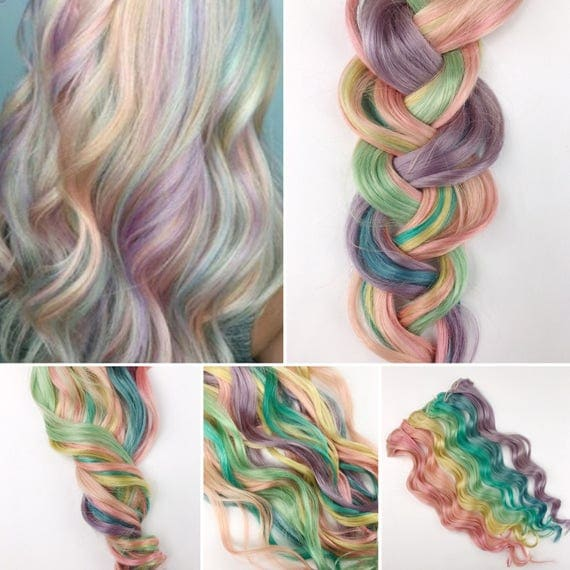 Rainbow pastel clip in hair extensions pink hair hair weave rainbow pastel clip in hair extensions pink hair hair weave wide tracks ombre hair extensions pastel rainbow hair festival hair pmusecretfo Choice Image
