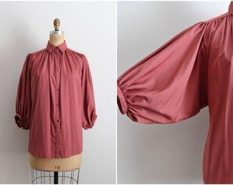 70s Amanda Blouse / Dramatic Sleeves / Vintage Blouse / 1970s Tops / Boho / Bohemian Tops / Size M/L/XL
