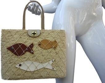 Vintage 60s ROGER VAN S Fish Purse