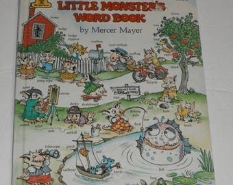 Little Monster's Word Book by Mercer Mayer Vintage Hardcover Book