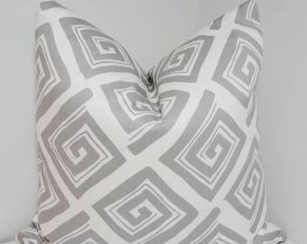 FALL is COMING SALE Grey & White Maze Print Pillow Decorative Pillow Cover Throw Pillow Grey Geometric