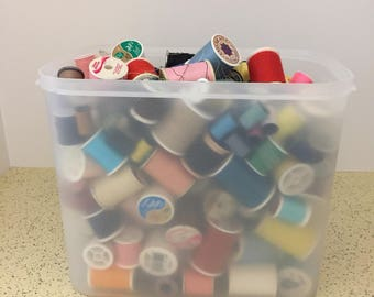 Lot of Spools of Thread Almost 4 Lbs. New and Partially Used, Newer and Vintage