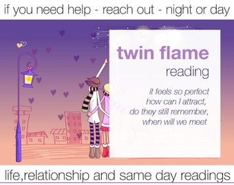 TWIN FLAME READING - any question - intuitive medium- experienced professional psychic - email pdf