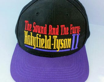 1997 Holyfield Tyson II snapback hat, deadstock with tag