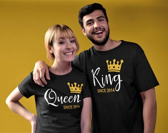 King and Queen Wedding Anniversary Shirts - Wedding Shirts