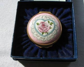Halcyon Days Valentine Enamel Box 1981