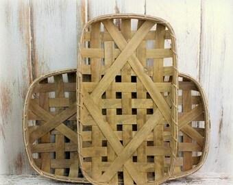 SALE Tobacco Basket, Fixer Upper Style, Farmhouse Style, Magnolia Market, Wall Basket, Rustic Wall Art, Primitive Basket, Gallery Wall Decor