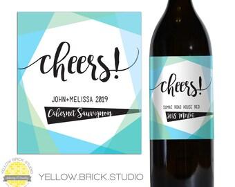 Custom Wine Bottle Label - DIY printable file by YellowBrickStudio