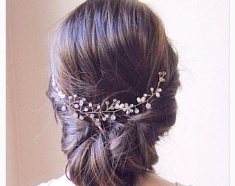 Gold hair vine bridal hair vine gold wedding hair vine gold wedding hair vine