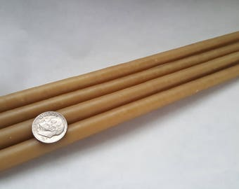 """56 Organic Beeswax tapers candles 3/8""""x5"""""""