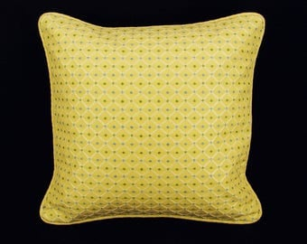 """16"""" x 16"""" Pillow Cover Yellow Welting"""