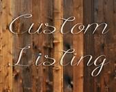 Custom Listing Reserved for Jeannette