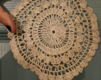 Vintage lace doilies