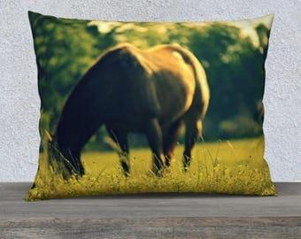 Horse Pillow Cover | Horse Throw Pillow | Horse Photography | Horse Theme Bedding | Horse Decor Pillow Covers Cases | Pillow Covers 18 x 18