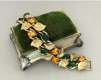 On Sale Vintage Collectible Rhinestone Bracelet, Mid Century 1940's 1950's Unsigned Coro Jewelry 1950s 1960s