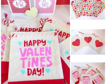 valentine favor bags fabric bags heart sequin bags candy bags valentines treat bags happy valentines day