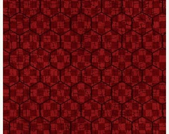 20 % off thru 7/4 MCANDERSON'S FARM Henry Glass  quilters cotton fabric by the Half yard dark red chicken wire-8625-88 Whole Country Caboodl