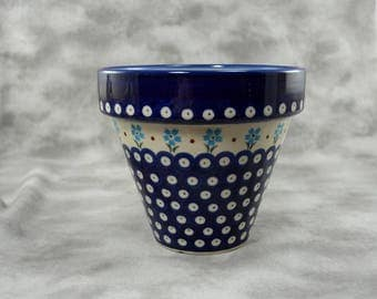 Boleslawiec Pottery Stoneware Flower Pot Planter