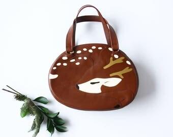 Sleeping Deer Handbag Reindeer Purse