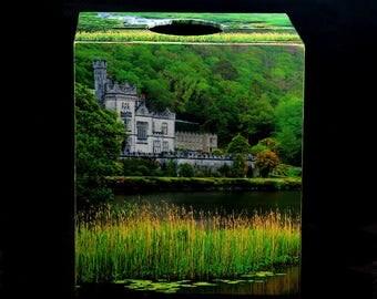 Tissue Box Cover Kylemore Abbey Ireland Home Decor