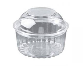 250 Mini Bundt Cake Containers- Crystal Clear