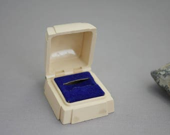 Vintage Ring Box Plastic Jewelry Presentation Box