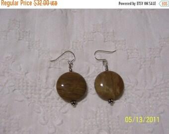 TWICE A YEAR, 25% Off Brown-Green Jasper, sterling silver earrings,