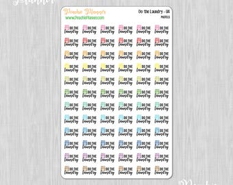 Do the Laundry, Rainbow Pastels - 72 Functional Planner Stickers    04