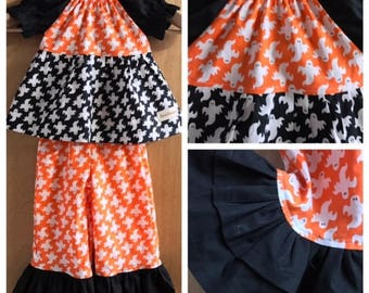 Infant/Toddler Halloween Top and Ruffle Pants, size 12 months